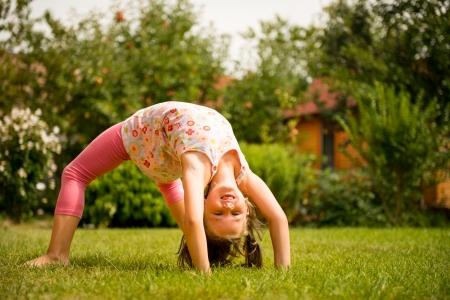 kids exercise: Exercising child