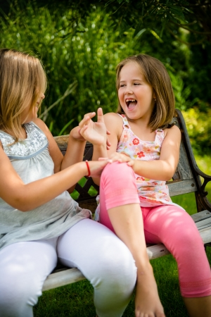 tickling: Larking children