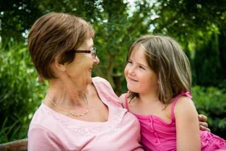 real people: Together - grandmother with granddaughter