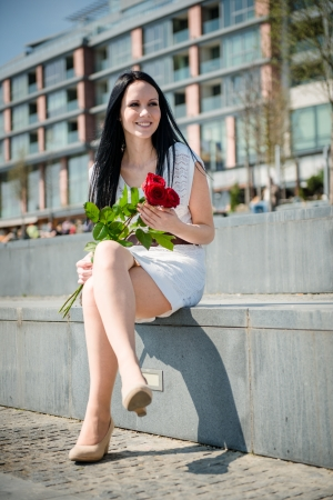 Best present  - woman with roses photo