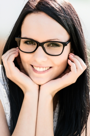 Woman with glasses - portrait Stock Photo