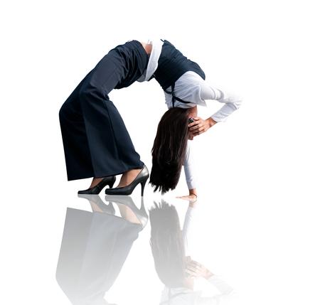 Flexible business communication - woman calling phone photo