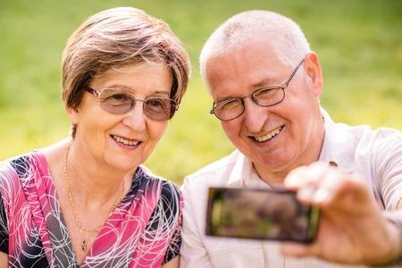 Capturing moments - senior couple photo