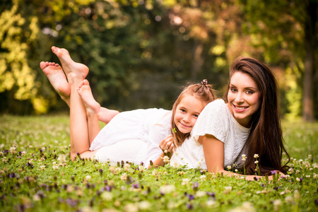 Mother and child in nature photo