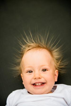 Smiling baby portrait Foto de archivo