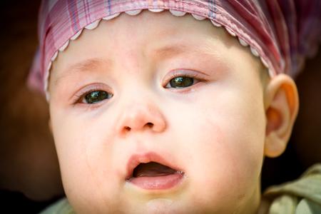 Tears - crying baby photo