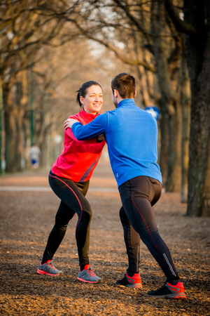 warm up: Couple Warm up before jogging
