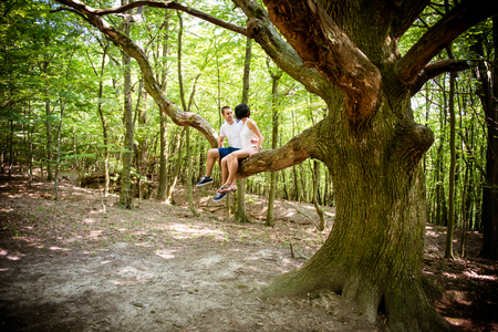 Love - date on tree photo