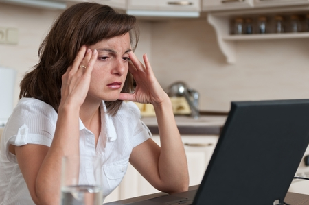 Migraine business person working photo