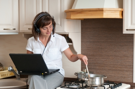Cooking and working from home