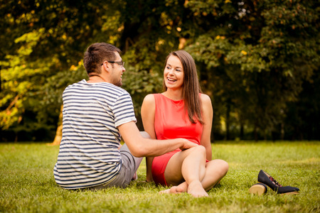 Young couple tdating photo