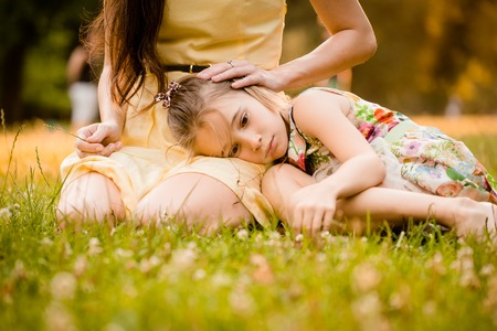 parenthood: Worries of childhood Stock Photo