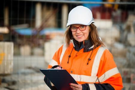 workwear: Senior woman engineer wearing protective workwear at work