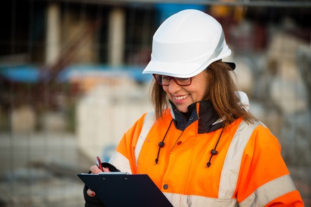 protective workwear: Senior woman engineer wearing protective workwear at work