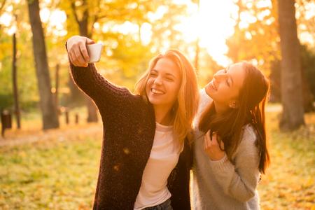 Vrienden selfie