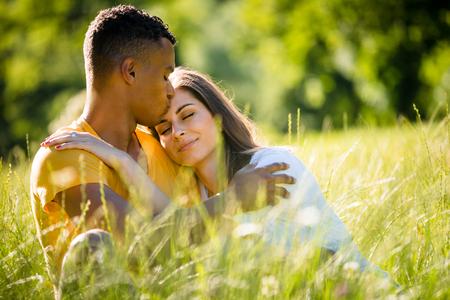 Happy together - mixed ethnic couple