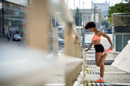 Runner jogger athlete woman exercising outdoors