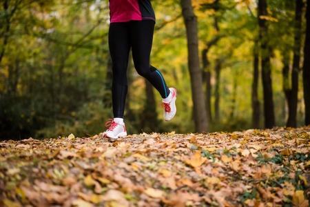 Woman athlete jogging in sportswear apparel