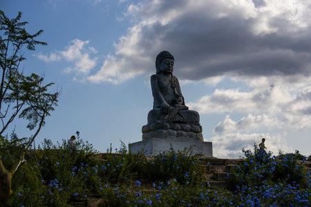 Buddha sculpture at Bacalhôa Buddha Eden, asian style garden, Quinta dos Loridos, Bombarral, Portugal, September 10, 2020 Editorial
