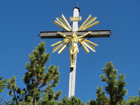 Summit cross on the Wank near Garmisch-Partenkirchen