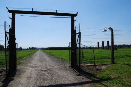 Auschwitz Birkenau - gate in IIb Stock Photo - 22383881