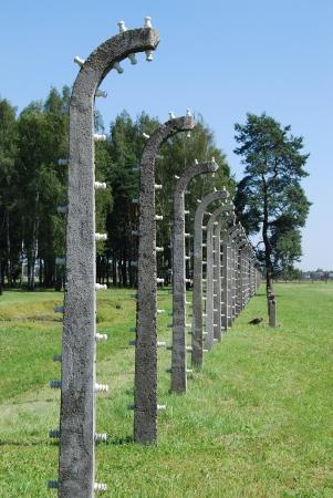 auschwitz: Auschwitz Birkenau - barbed wire Editorial