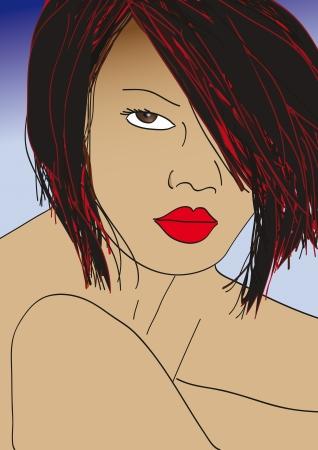 Asian woman Vector