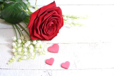 Heartfelt flower greeting Imagens