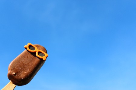Icecream with sunglasses Stock Photo