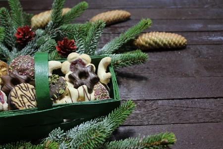 Christmas decoration with yummy christmas cookies