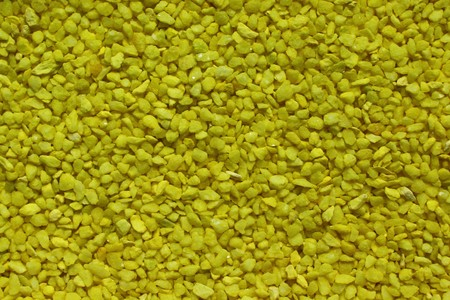 yellow decorative granulate Imagens
