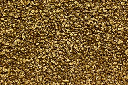 golden decorative granulate