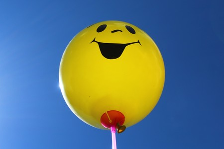 Funny balloon in the front of the sky Banque d'images - 123003766