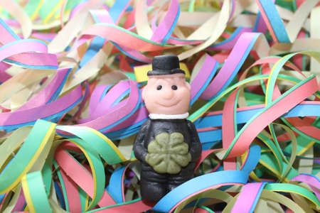 marzipan chimney sweep in paper streamers