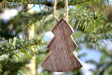 christmas tree decoration on a Nordmann fir