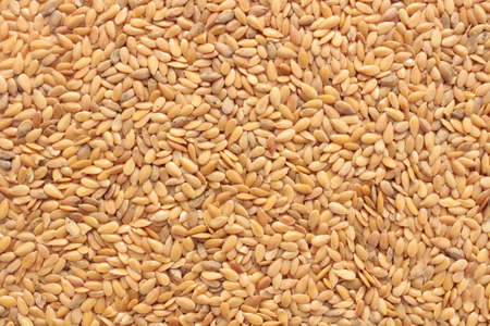 a background with brown linseed