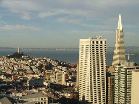 coit: San Francisco Skyline Editorial