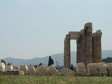 zeus: Temple of Zeus Stock Photo