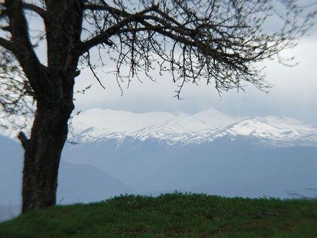 former yugoslavia: Mount Vodno, F.Y.R. Macedonia Stock Photo