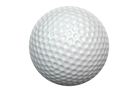 A white golfball isolated on white with clipping path