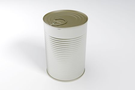 A single metal can isolated with clipping path Stock Photo - 6197953