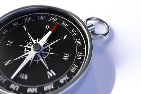 Closeup of a compass with shallow depth of field Stock Photo - 6791670