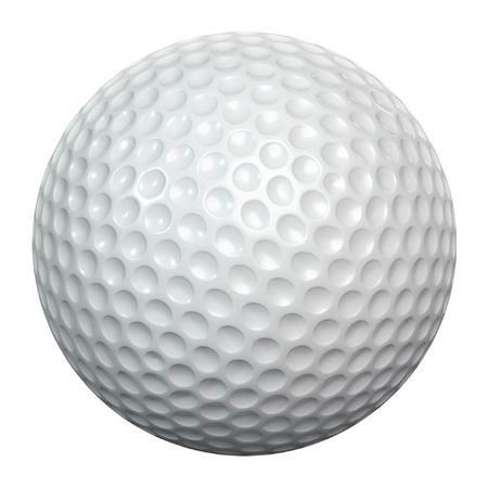 A white golf ball isolated on white background Stock Photo