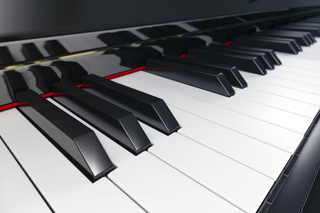 Close-up of a piano keyboard with shallow depth of field Stock Photo - 6791673