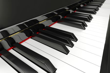 Close-up of a piano keyboard with shallow depth of field Stock Photo - 6809572