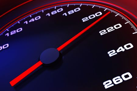 Speedometer up and close Stock Photo