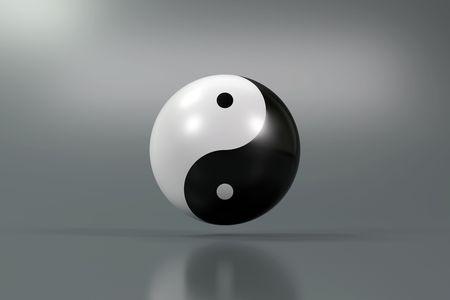 Modern Yin Yang symbol on a diffuse background Stock Photo - 6908610