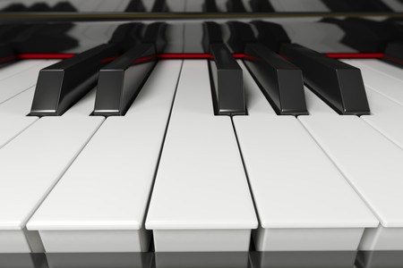 Close-up of a piano keyboard with shallow depth of field Stock Photo - 6951782