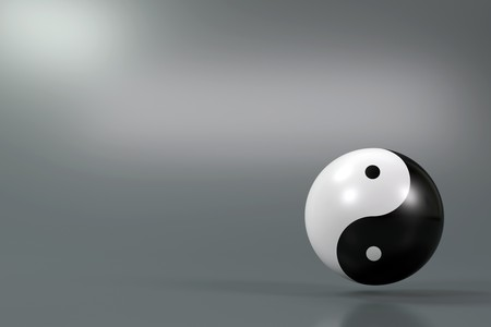 Modern Yin Yang symbol on a diffuse background Stock Photo - 6951784