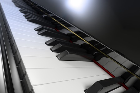 Close-up of a piano keyboard with shallow depth of field Stock Photo - 6951793
